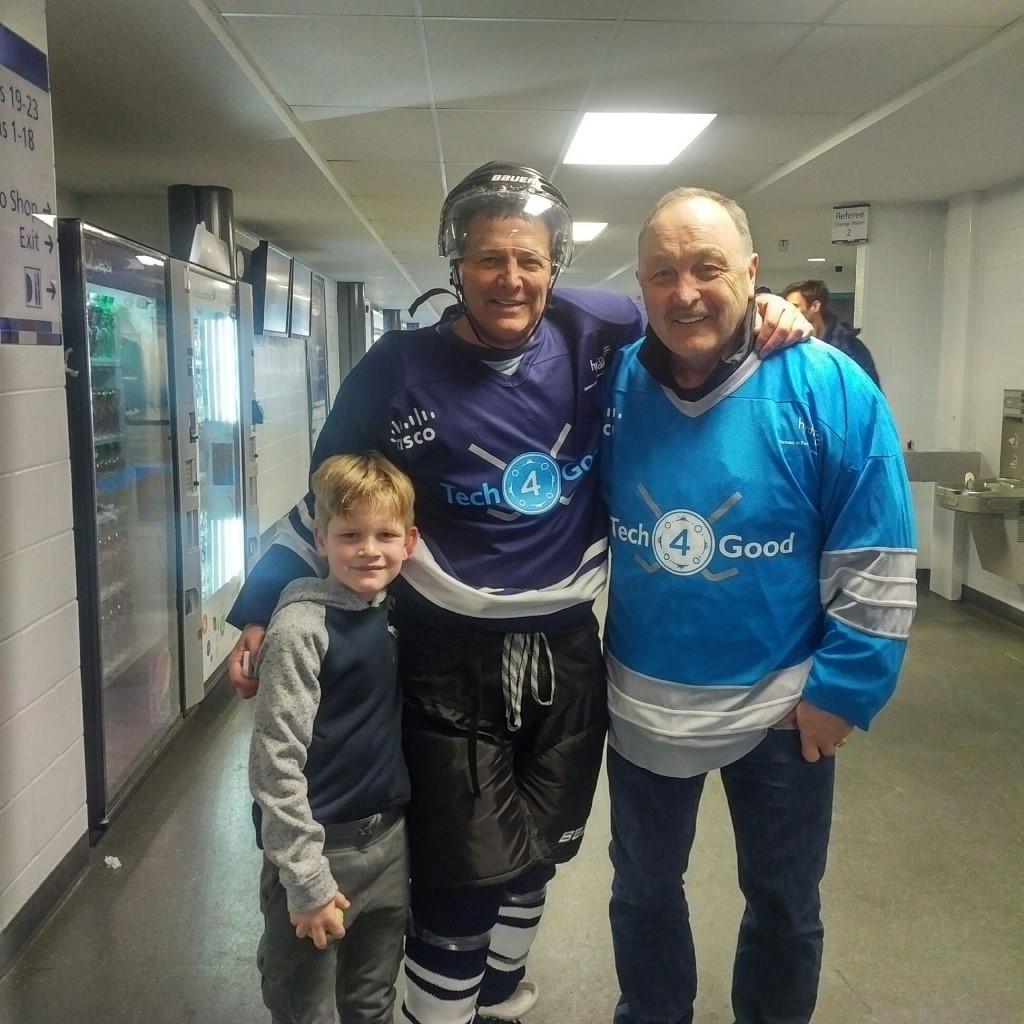 Sean St. John and Bryan Trottier
